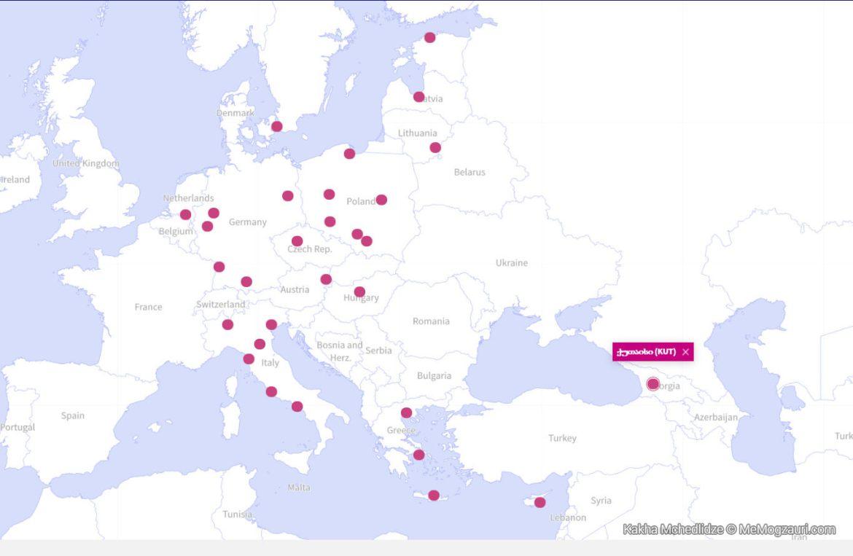 Wizz Air რუკა