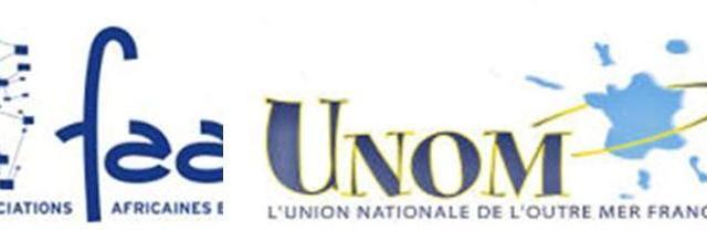 Soutien de la Fédération des Associations Africaines et Créoles (la FAAC), et L'Union Nationale de l'Outre-Mer français (L'UNOM)