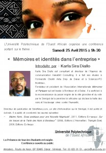 ConferenceUPOA Karfa Diallo 25avril2015