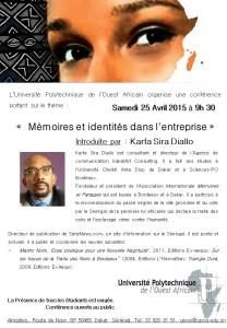 ConferenceUPOA Karfa Diallo 25avril2015