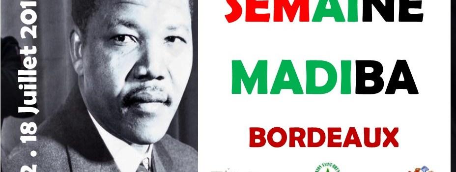 LA SEMAINE MADIBA – 3e Mandela Day, Bordeaux, 12-18 juillet 2019