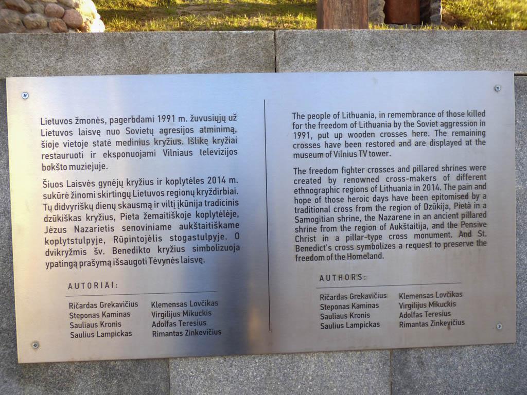 VilniusTVTowerMemorialPlaque