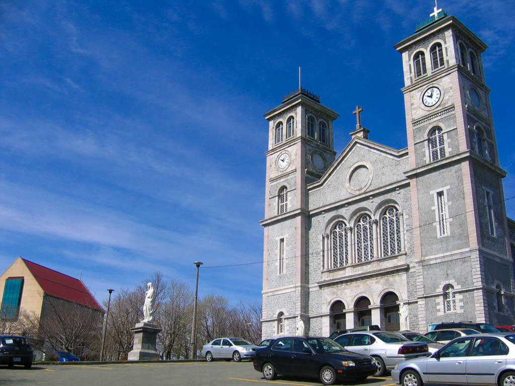 The Basilica church in St. John's