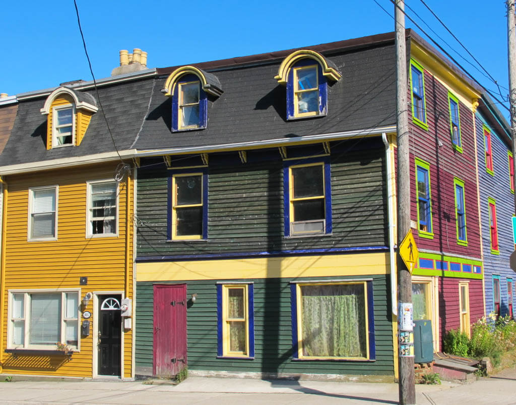 Colourful houses in St. John's