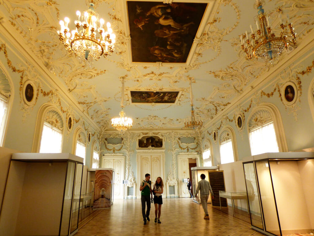 Blue Hallway in Hermitage Museum