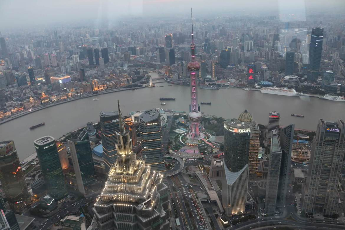 Dusk view from Shanghai World Financial Center