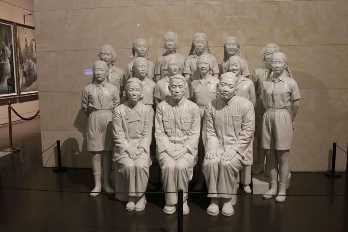 A group of statues in the China Art Museum, Shanghai