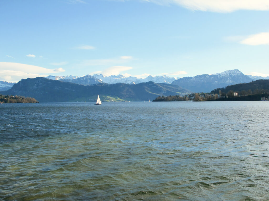 A warm January day at Lake Lucerne