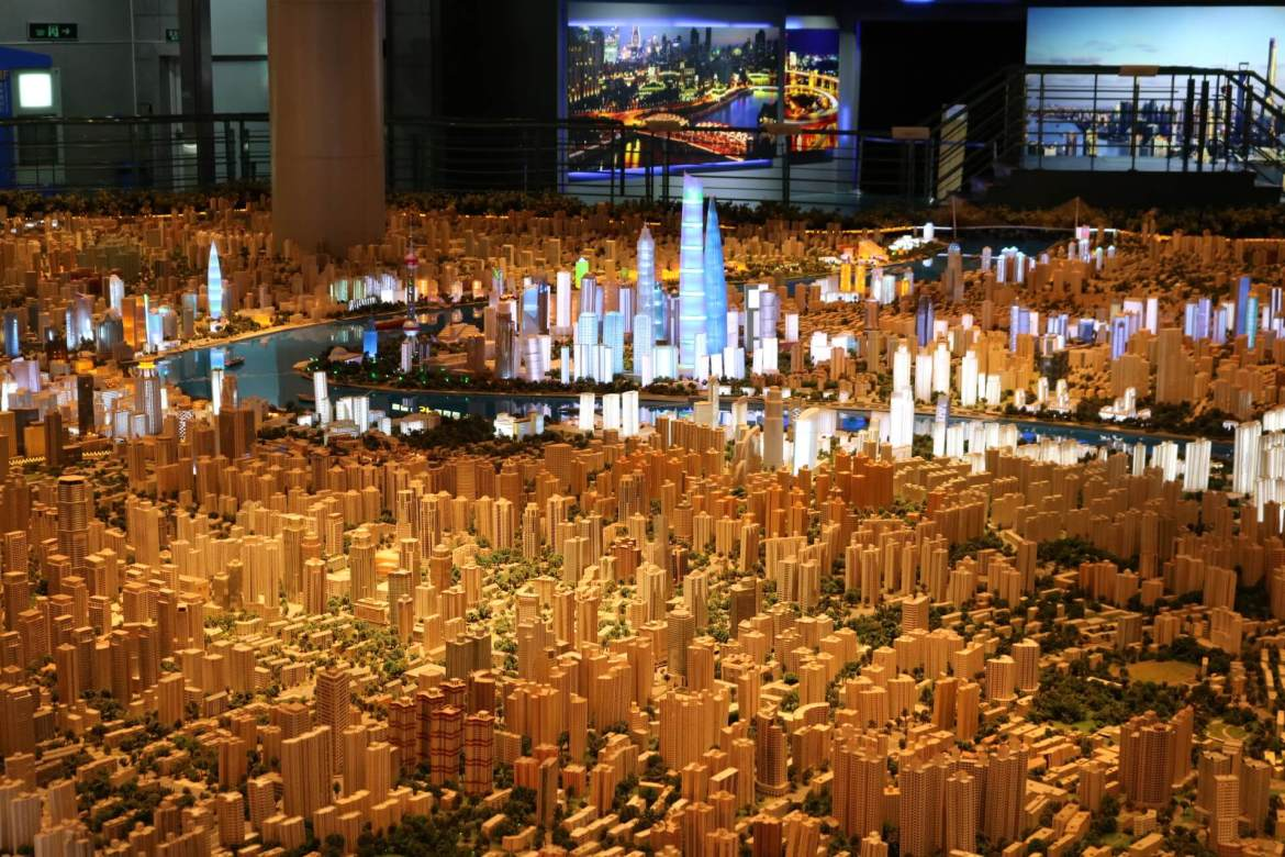 A model of the sprawling city of Shanghai