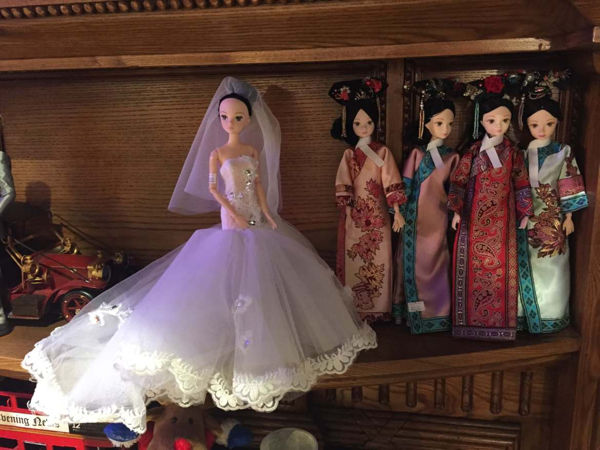 Dolls at Rock Princess Cafe, Tianzifang.