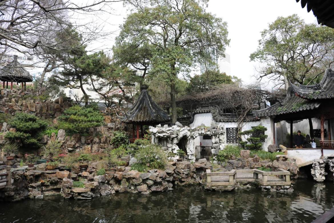 A peaceful area at Yu Garden