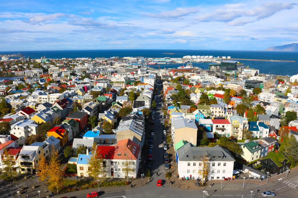 View of Reykjavík from Hallgrímskirkja