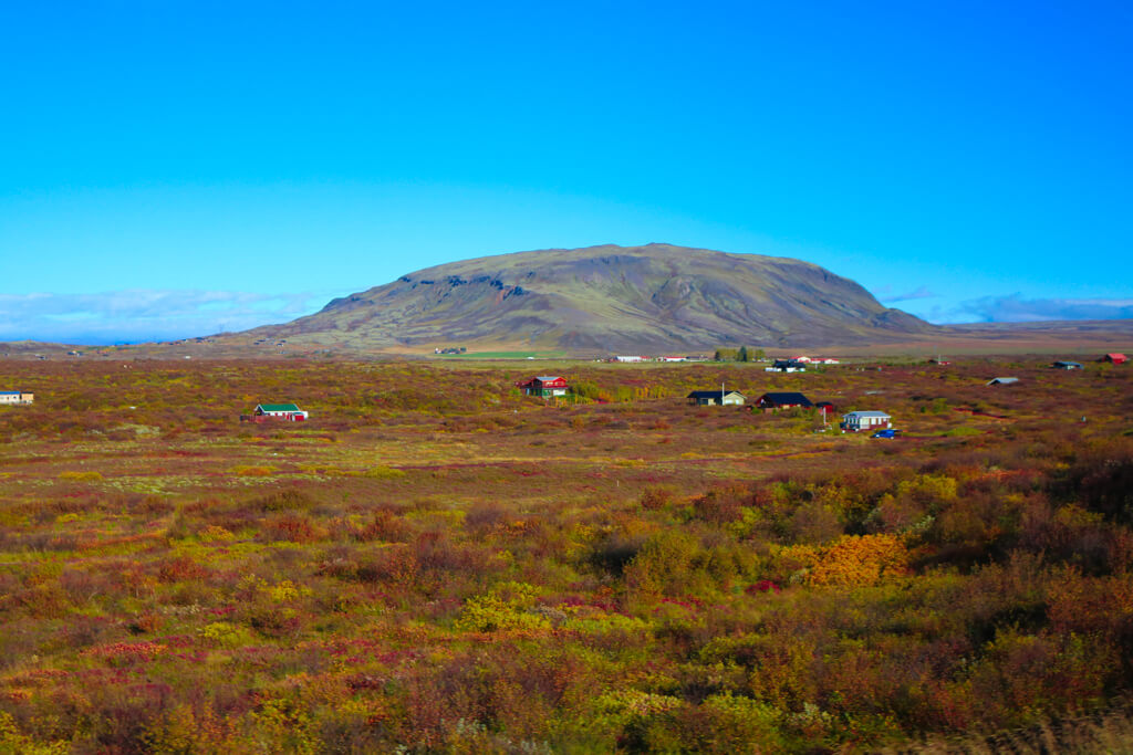Scenery on the Ring Road in South Iceland.