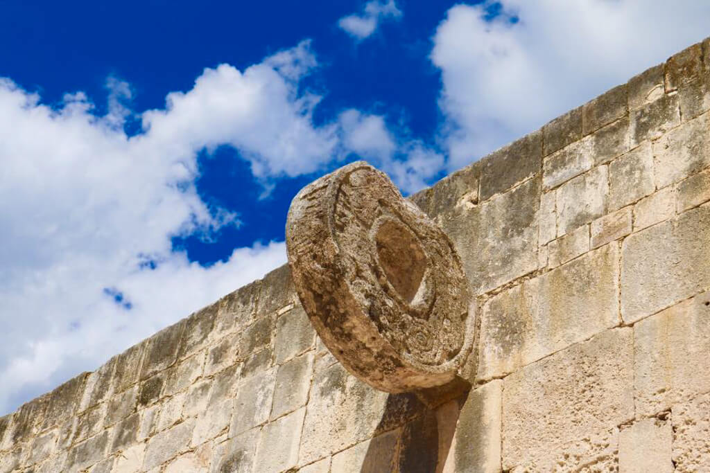 Ball Hoop in the Ball Court at Chichen Itza