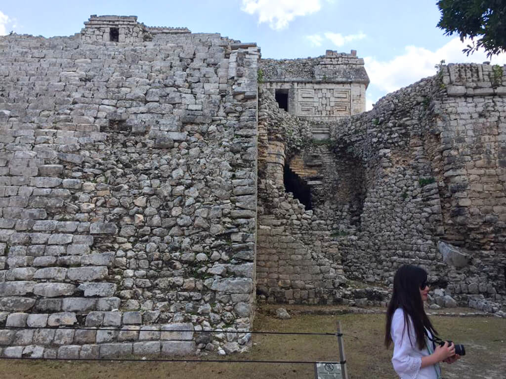 Dynamite damage at Chichen Itza