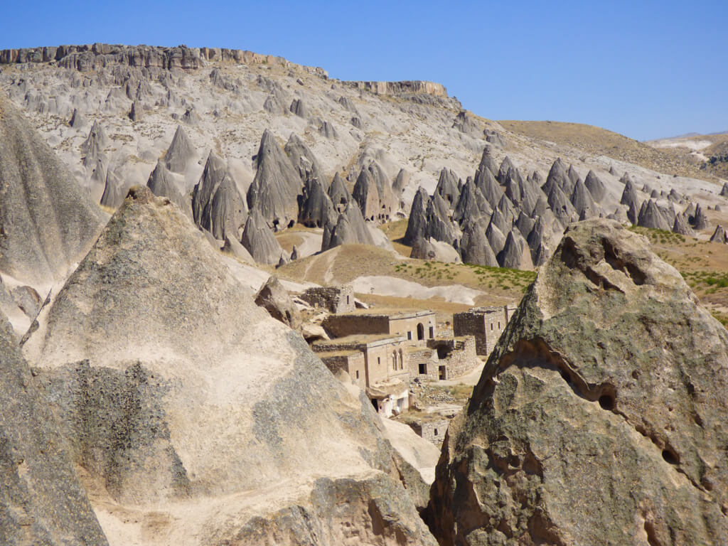 Landscape near Selime Monastery, which looks like a scene from a Star Wars movie