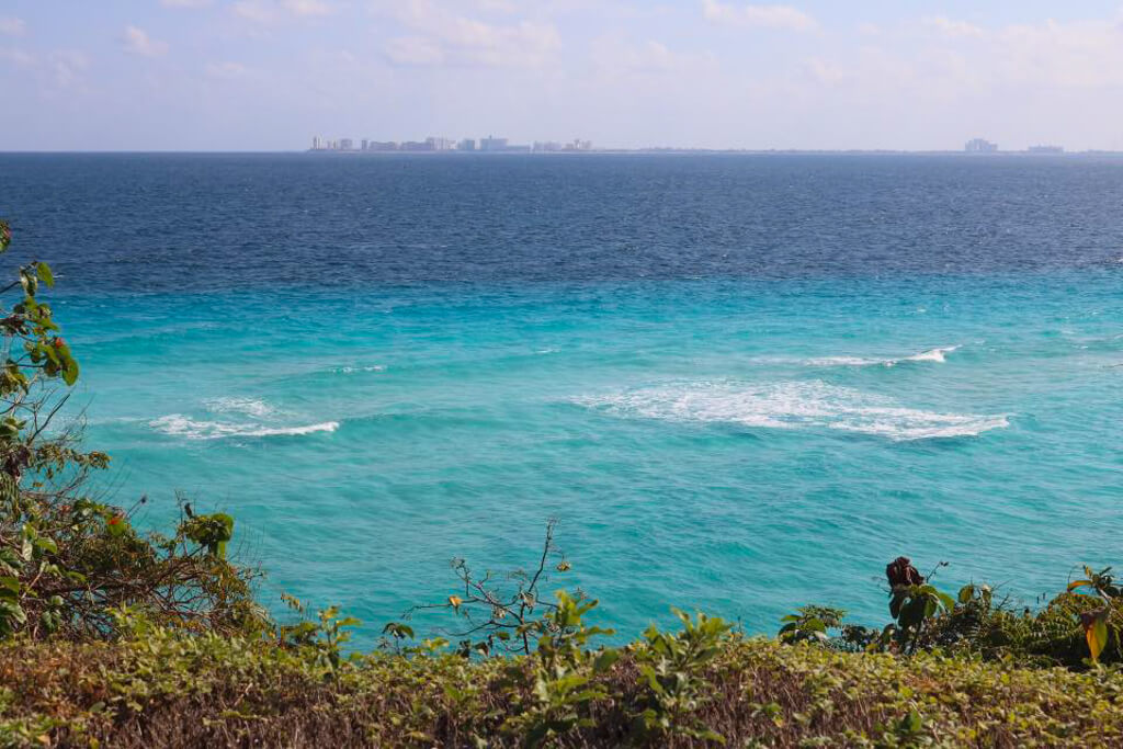 View of Cancun from Isla Mujeres, Mexico