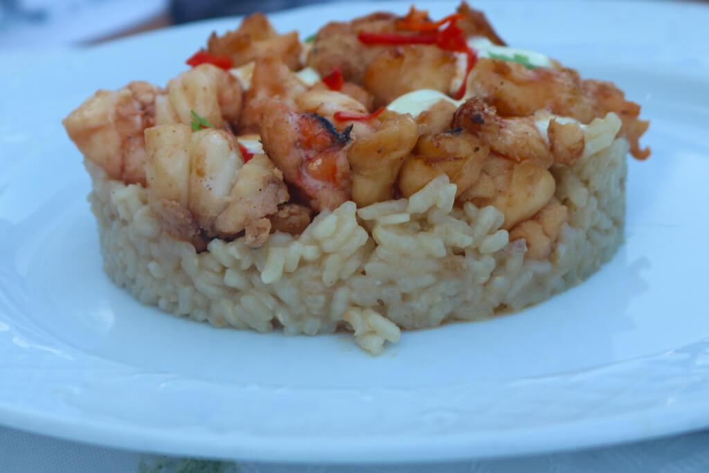 Lobster dish at Paladar La Guarida