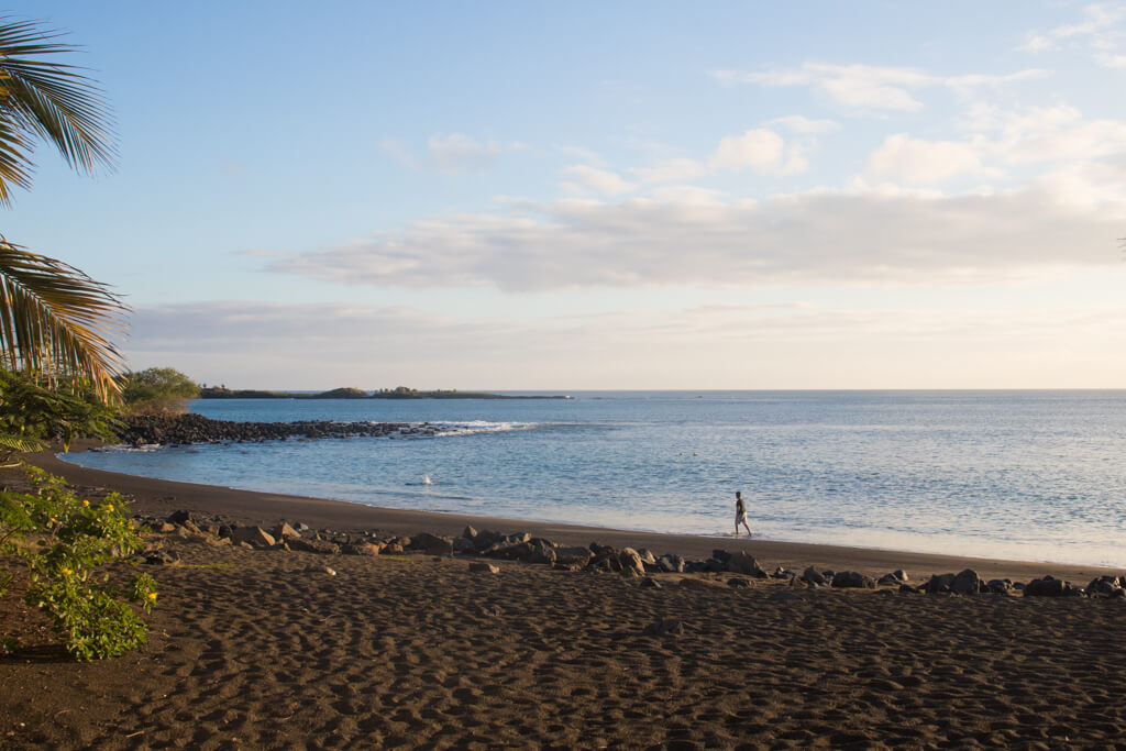 Black Beach (or Playa Negra) on Floreana Island in the Galapagos is a great place to snorkel, relax , or watch the sunset