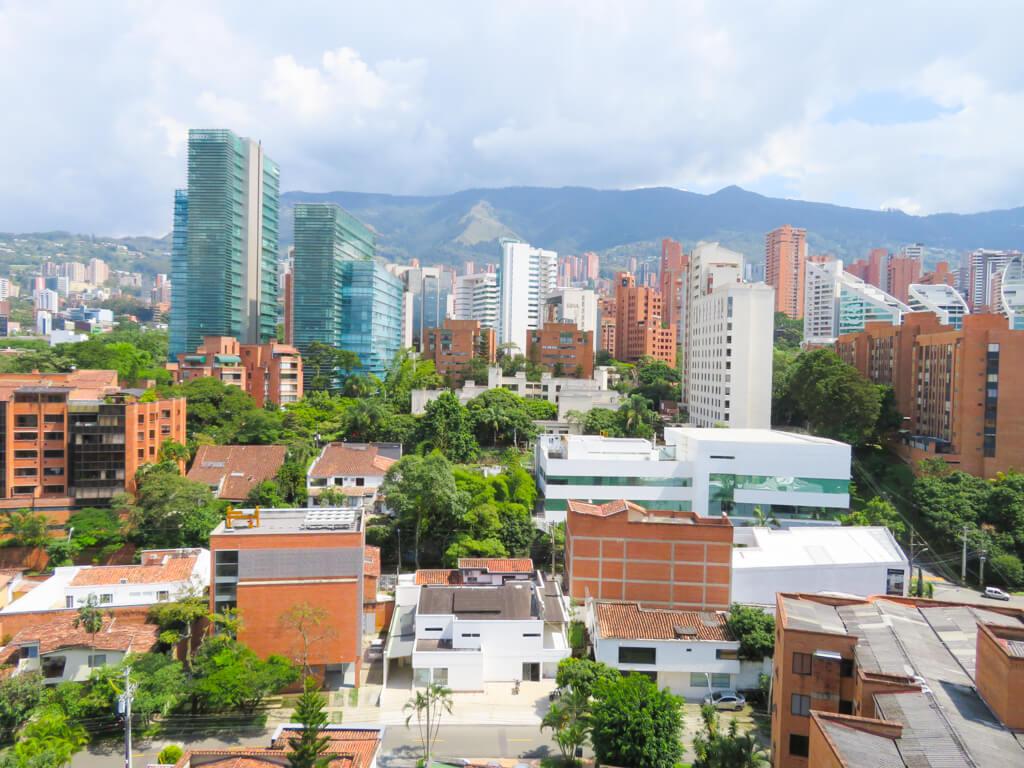 Tall buildings in Medellin's El Poblado district