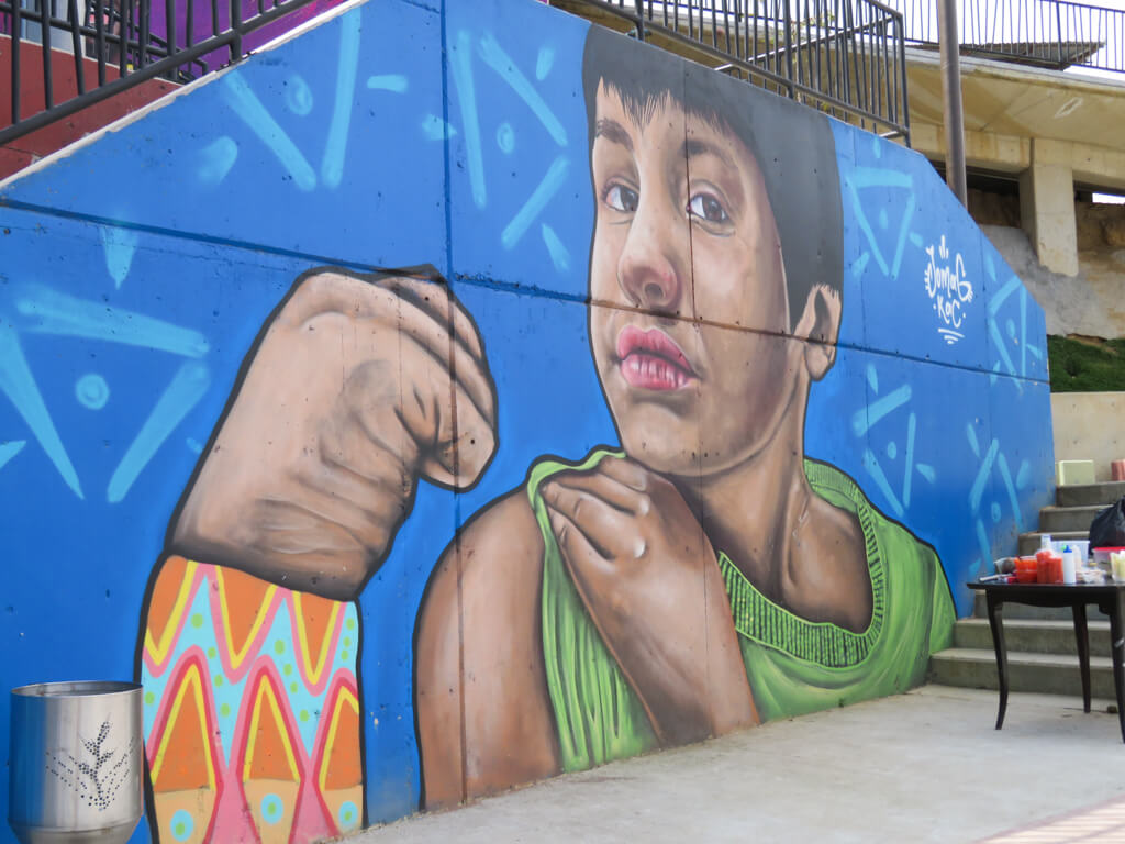 Mural of a boy, Comuna 13