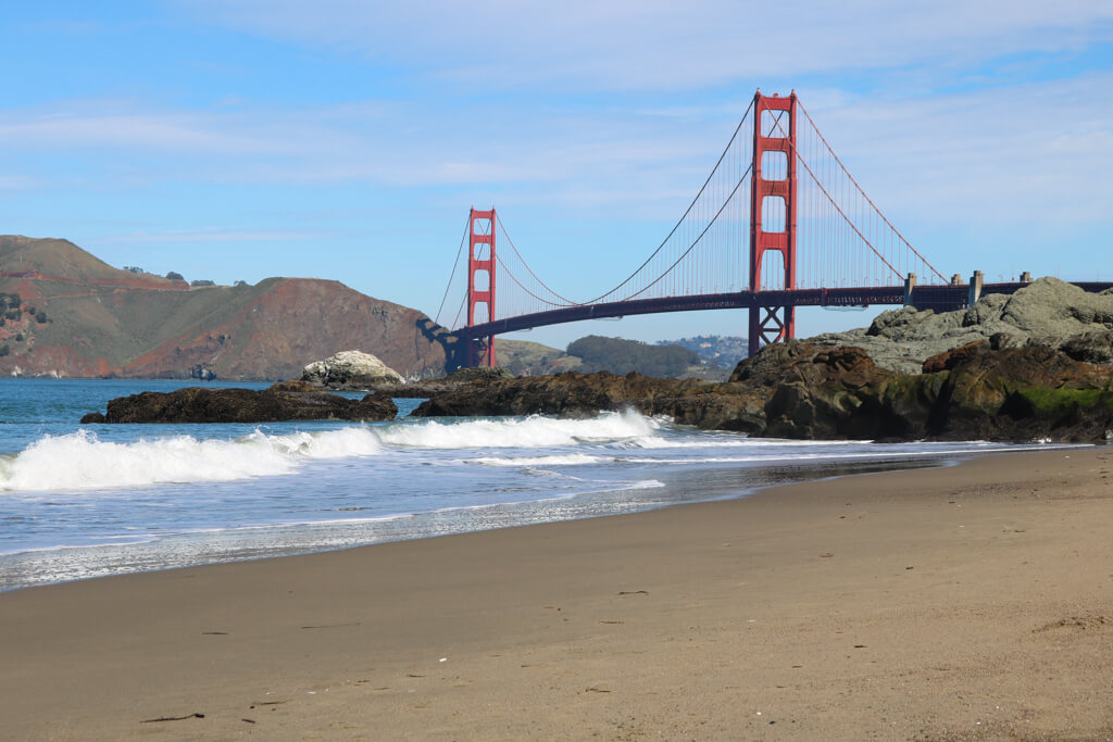 Baker Beach is one of the best places to see the Golden Gate Bridge in San Francisco