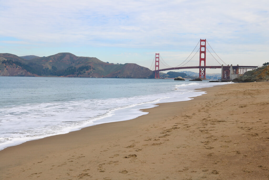 Baker Beach is one of the best places in San Francisco to see the Golden Gate Bridge