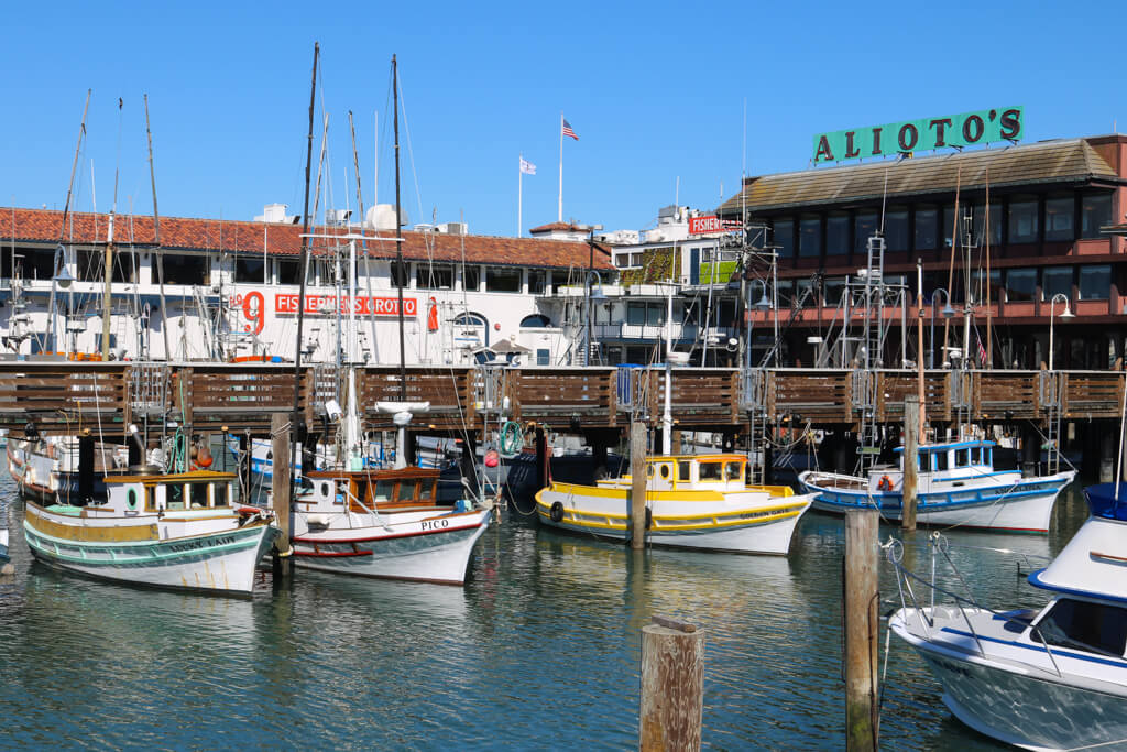 Small boats at Fisherman's Wharf in San Francisco