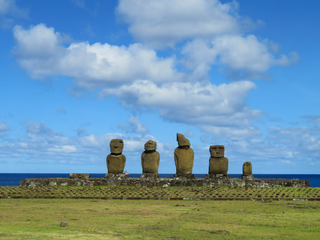 Ahu Vai Uri is an ahu consisting of five moai found at Tahai archaelogical site on Easter Island