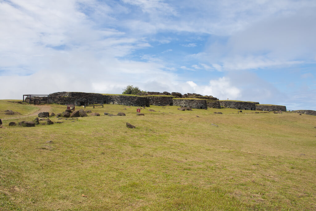 Orongo Village is a ceremonial village on Easter Island