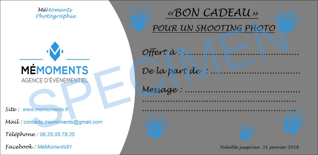 Bon Cadeau Sance Photo Avec Mmoments Photographe