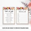 Printable bridal shower games bundle