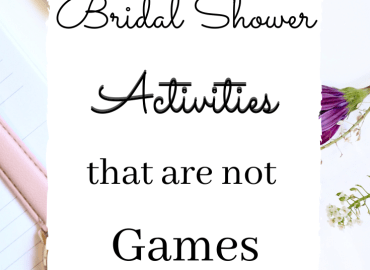Bridal shower activities that are not games