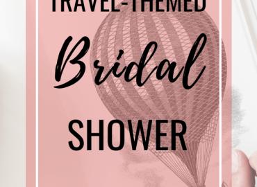 Travel themed bridal shower