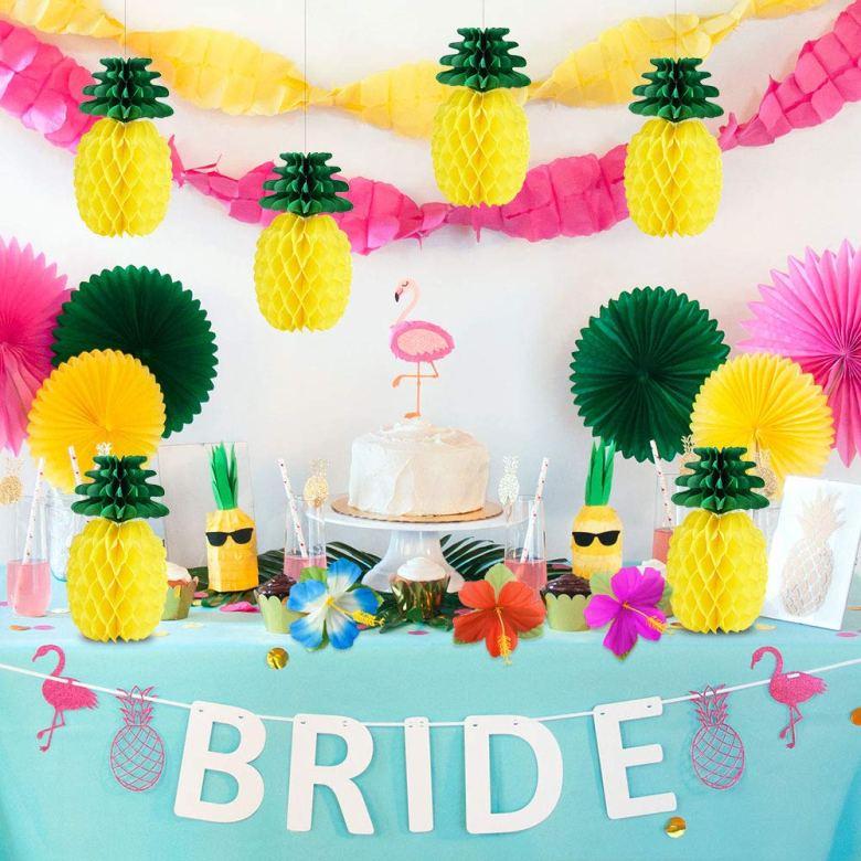 Aloha bridal shower decorations
