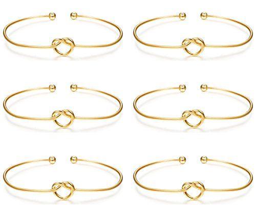Love knot bracelet bridal shower favor