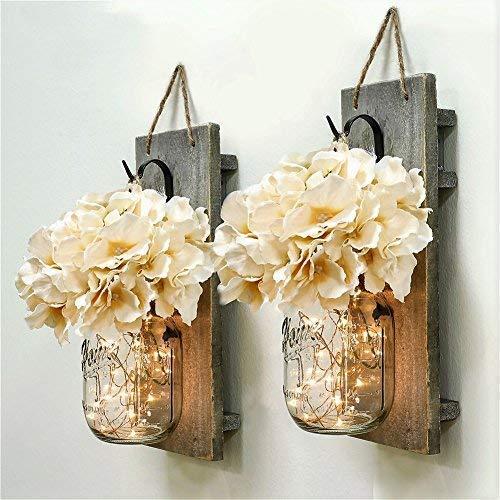 Rustic mason jar bridal shower decorations