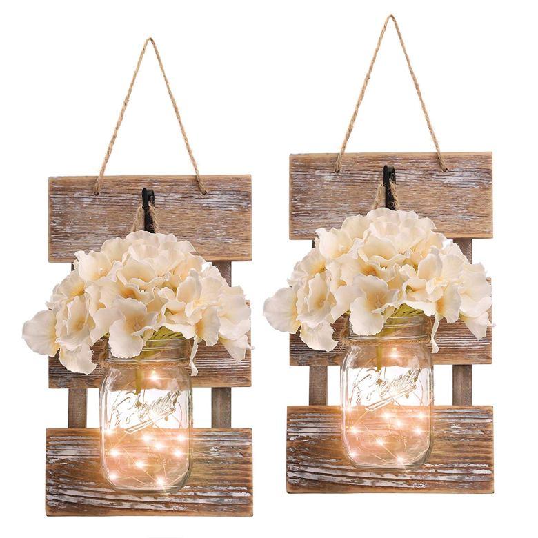 Rustic bridal shower lights