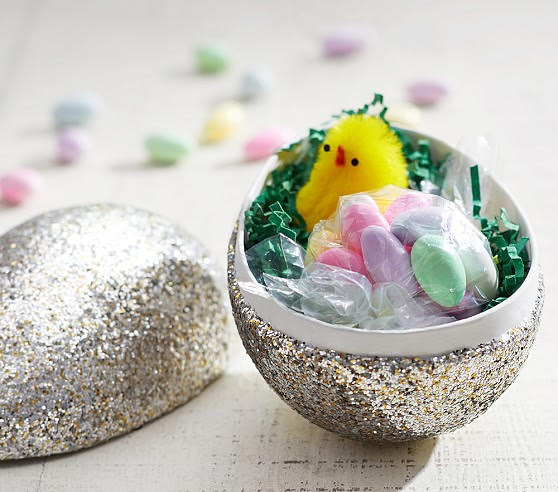 DIY glitter Easter eggs are perfect DIY Easter crafts for kids