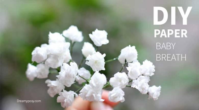 DIY paper flowers baby breath