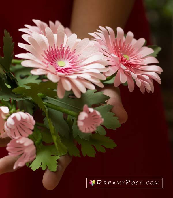 Paper Gerbera flower