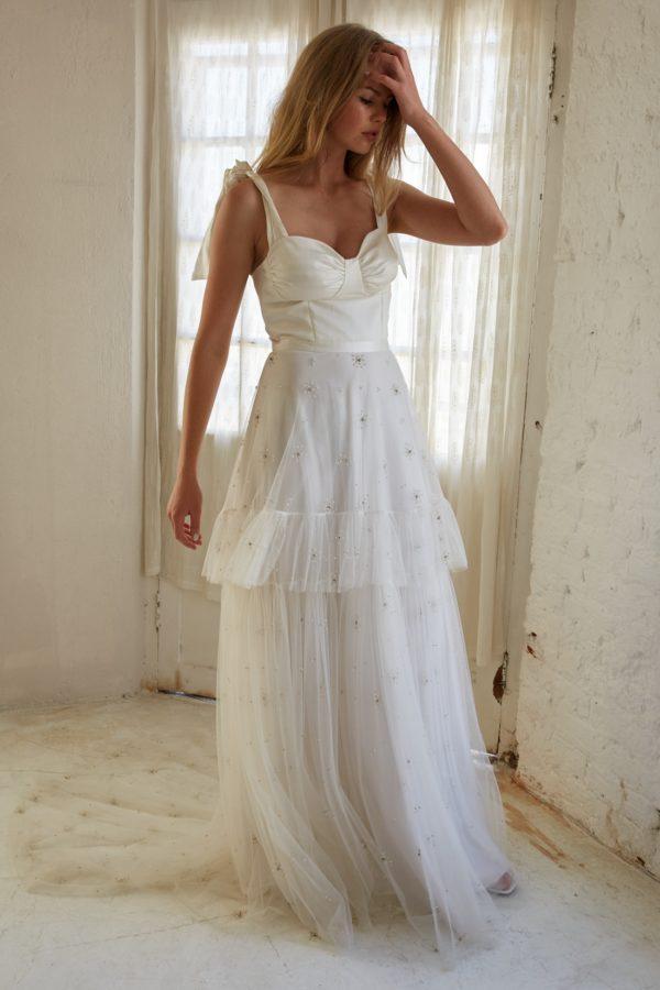 Avalon bohemian bridal gown