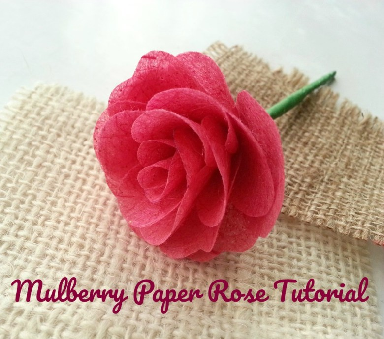 Mulberry paper rose