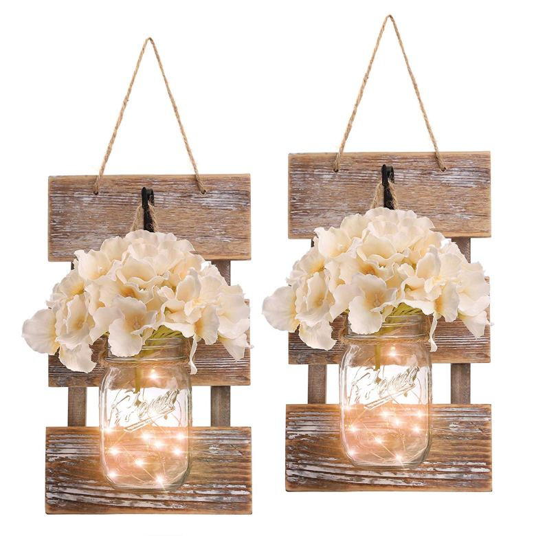 Rustic wall decorations for spring and summer bridal shower themes