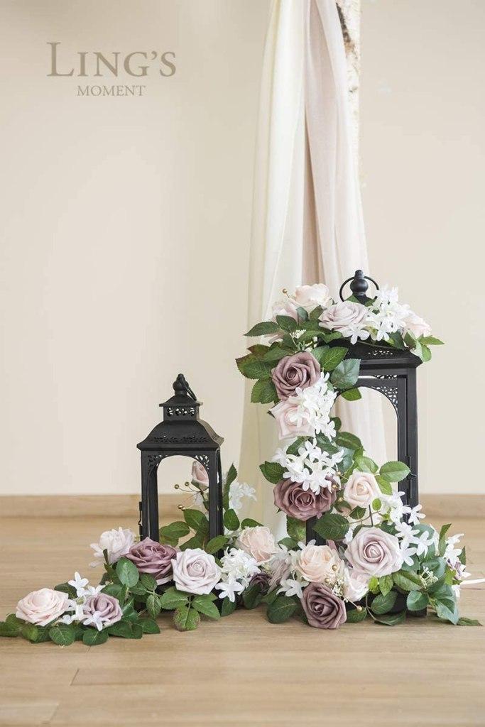Lantern Floral Arrangement Elegant Wedding Centerpieces