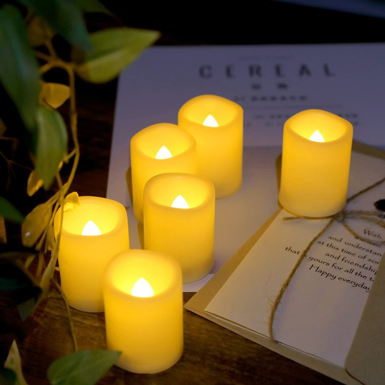 LED Votive Candles Tea Lights Set Wedding Party Decorations