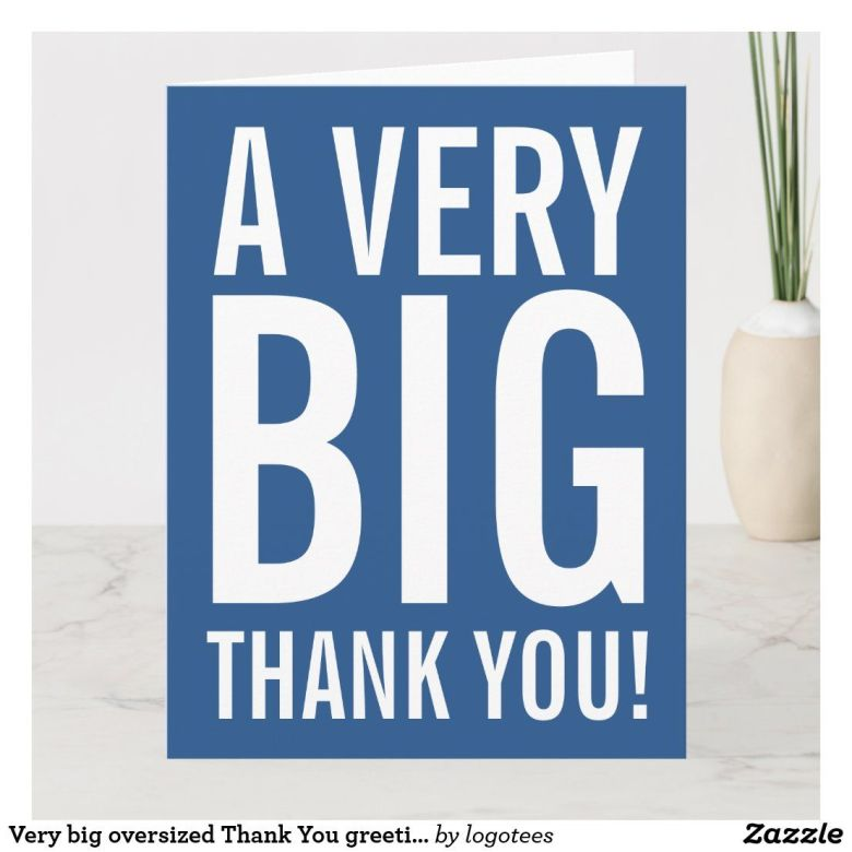 A very big thank you card