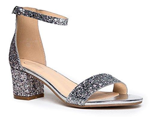 J. Adams Ankle Low Block Heel Sandals