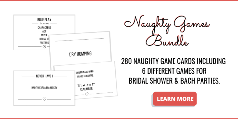 Bachelorette party games bundle