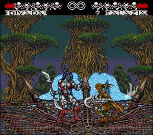 Divada x Talazia no Mega Drive